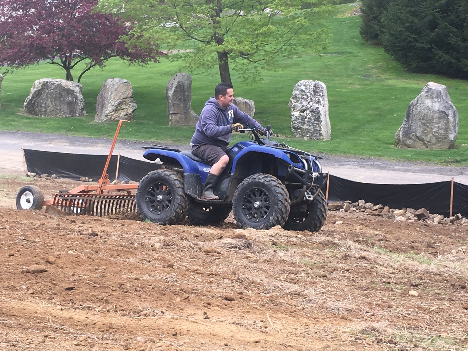 Grading Dirt with an ATV