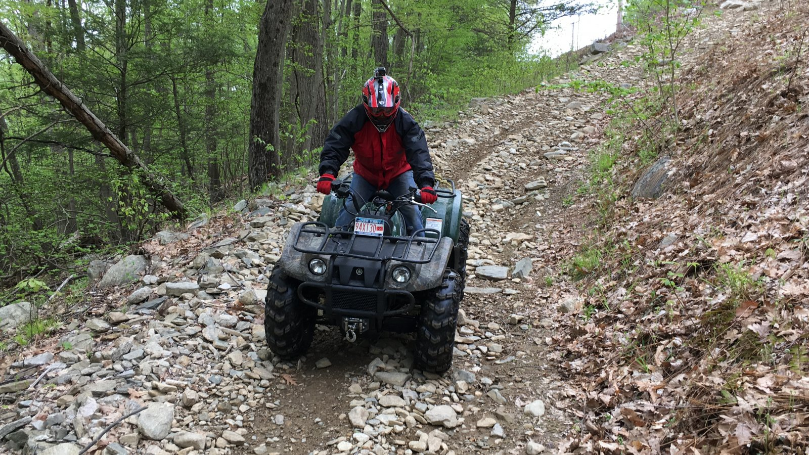 Yamaha Kodiak 400 Trail Riding